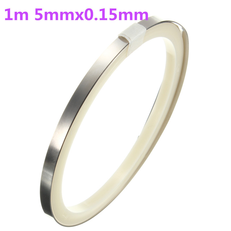 Hot Sale 1 meter 5mmx0.15mm Pure Ni Plate Nickel Strip Sheet Tape for Battery Pack Welding DIY pack assembly 1pc 10m ni plate nickel strip tape for li 18650 26650 battery spot welding 0 1mm thick