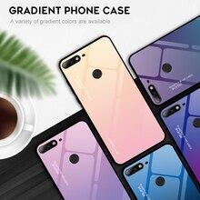For Huawei Enjoy 7 8 8E 9 9S plus Glass Case Y7 2018 Prime Pro Cover TPU Honor 7C Nova 2 Lite Coque