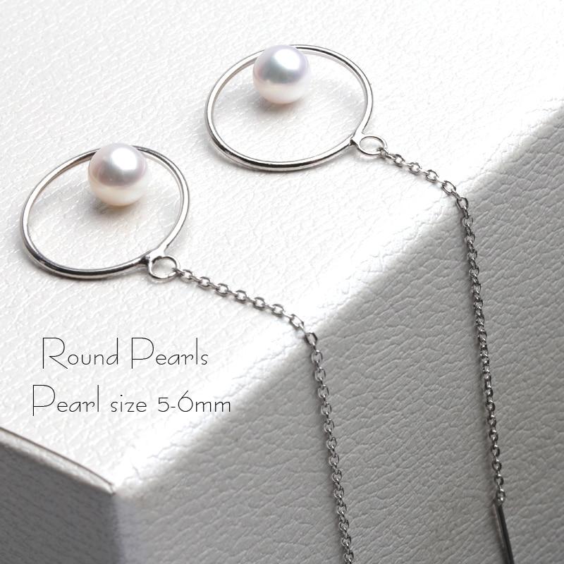 New Fine grade AAAA 925 silver pearl drop earrings for women freshwater small pearl long earrings for girl best gifts in Earrings from Jewelry Accessories