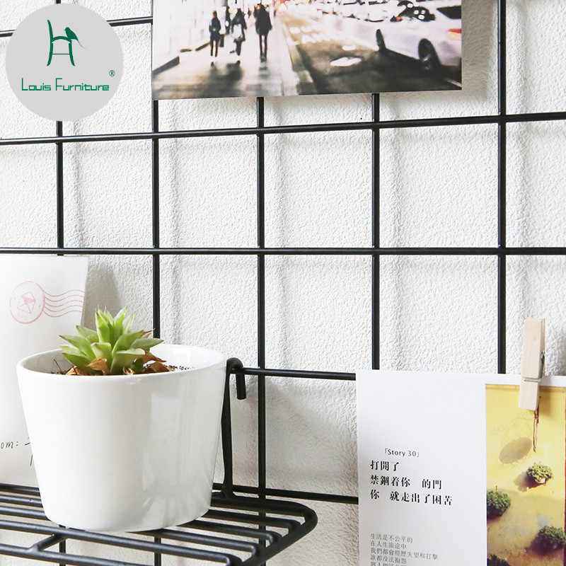 Louis Fashion Photo Simple Iron Art Frame Wall Hanging Rack Clip Hanging Decoration