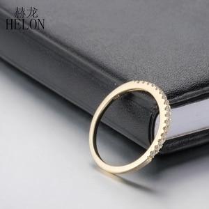 Image 4 - Женское кольцо с бриллиантами HELON Pave, розовое золото 10 к