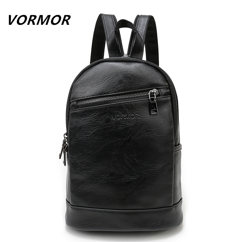 VORMOR Multifunction Leather Small Backpack Bag Waterproof Fashion Chest Pack Crossbody Bags For Men WomenVORMOR Multifunction Leather Small Backpack Bag Waterproof Fashion Chest Pack Crossbody Bags For Men Women