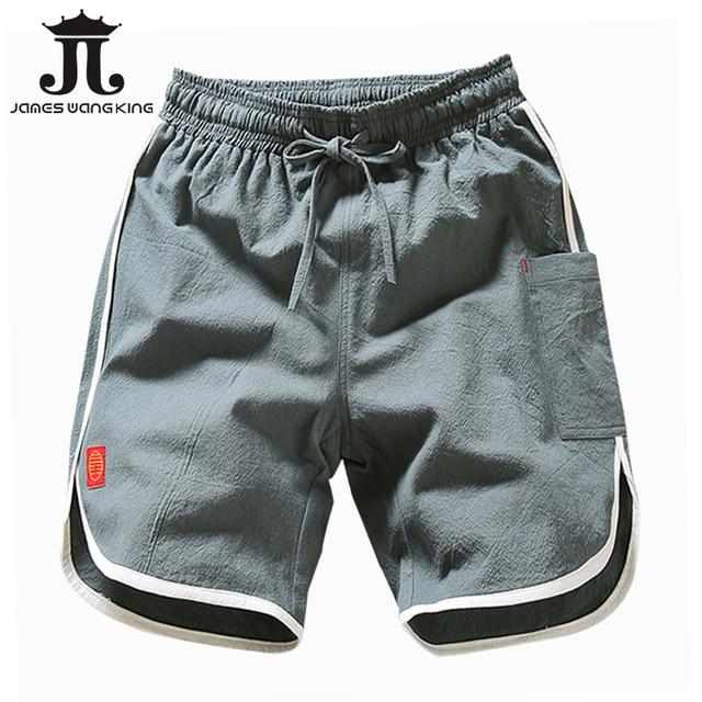 f09afc69b8 Linen Men Shorts Plus size XXXXL Chinese Culture Men's half short for man  Bermuda Masculina Board shorts Linen Cotton size M-5XL