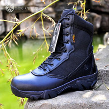 Men Military Tactical Boots Desert Combat Outdoor bot Army Hiking Travel Botas Leather Autumn Ankle Boots spring and autum boots