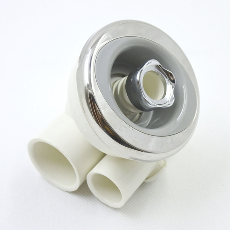 3 stainless surface spa tub bathtub nozzle, connection hose 1x 1/2 hydromassage jet, massage nozzle