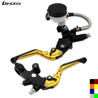 Universal Motorcycle 8 Color CNC Lever 1 Pair Hydraulic Brake Clutch Pump Master Cylinder Lever Cable
