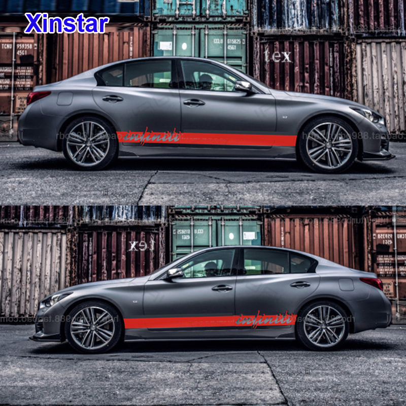 Infiniti Qx50 On Hiatus Qx60 Hybrid: 2pcs/lot Car Side Sticker For Infiniti Q50 Q60 Q70 QX50