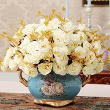 Керамическая ваза украшение ручной работы ваза цветочный домашний интерьер Джейн гостиная настольные аксессуары
