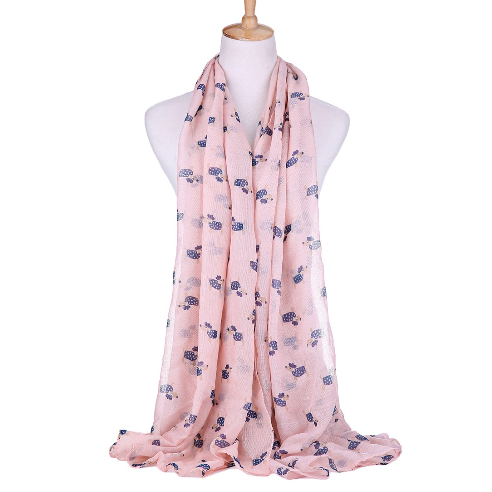 100% viscose Cartoon Dalmatians Print Women's long   Scarf     wraps   Gift for Dog Lovers