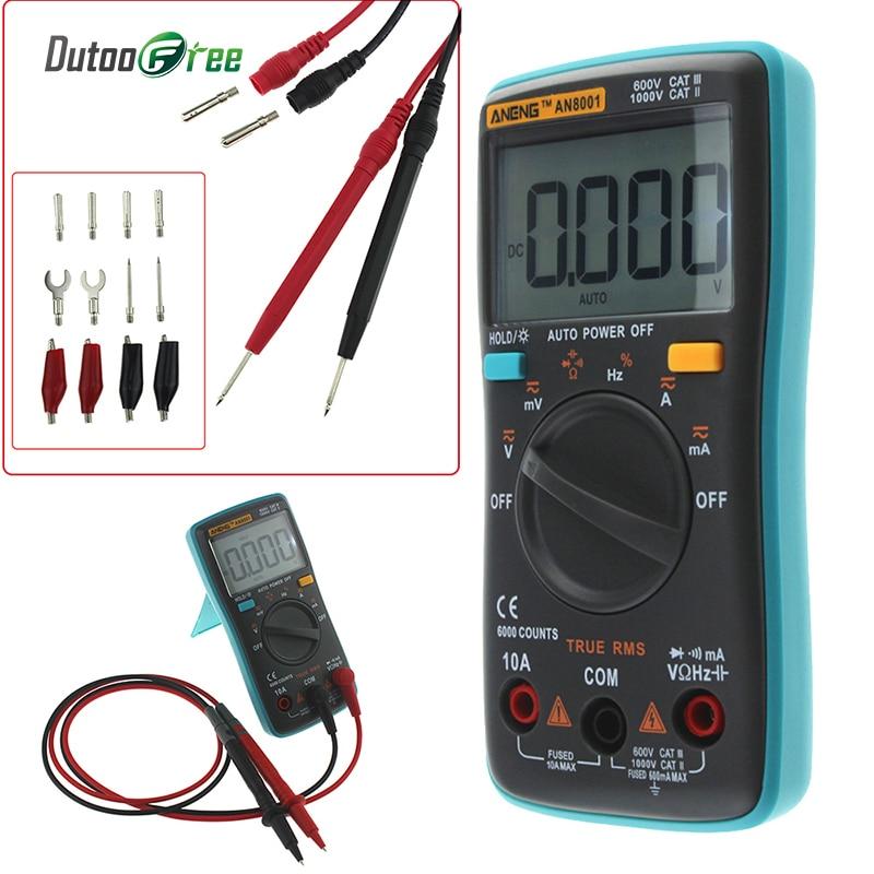 Dutoofree Multimeters Multimetro Electrical Multimetros Digital Professional Lcd Digital Multimeter Tester Meter Voltmeter все цены