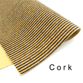 Cork fabric 65*50cm/25.5*19.6inch Natural brown stripe cork leather natural Material Kork Cor-46
