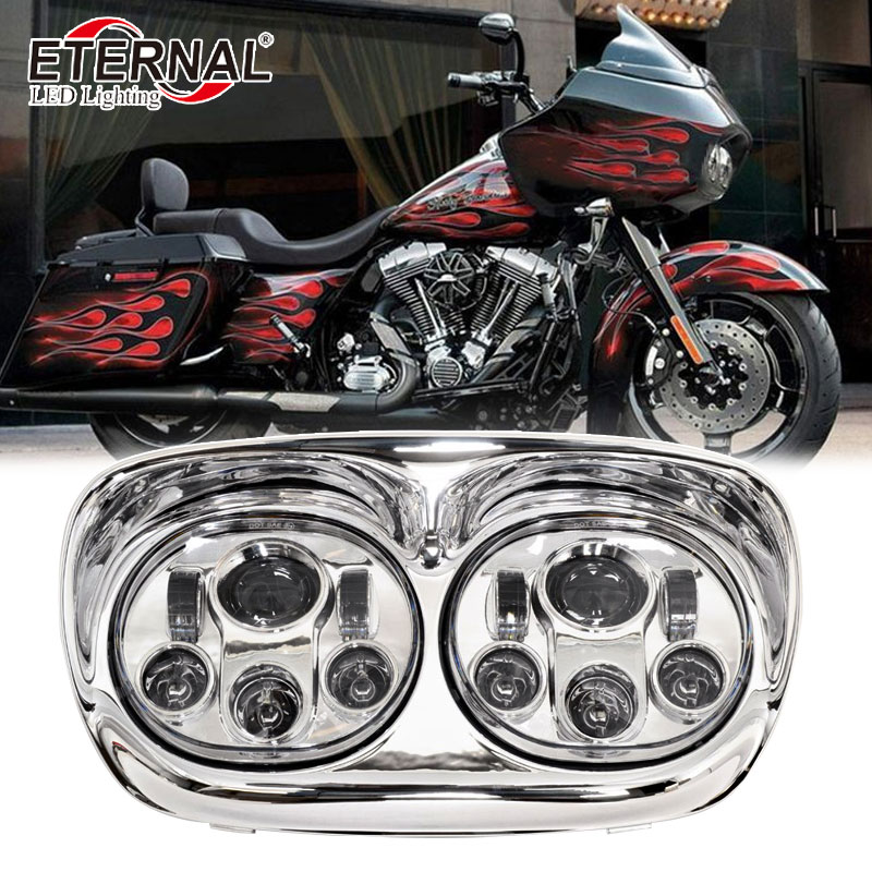 90W 5.75 5 3/4 inch led Glide dual motorcycle headlight replacement for 4x4 off road Harley Davidson Road Glide Projector