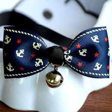 Cute Print Adjustable Pet Decorative Collars With Bells