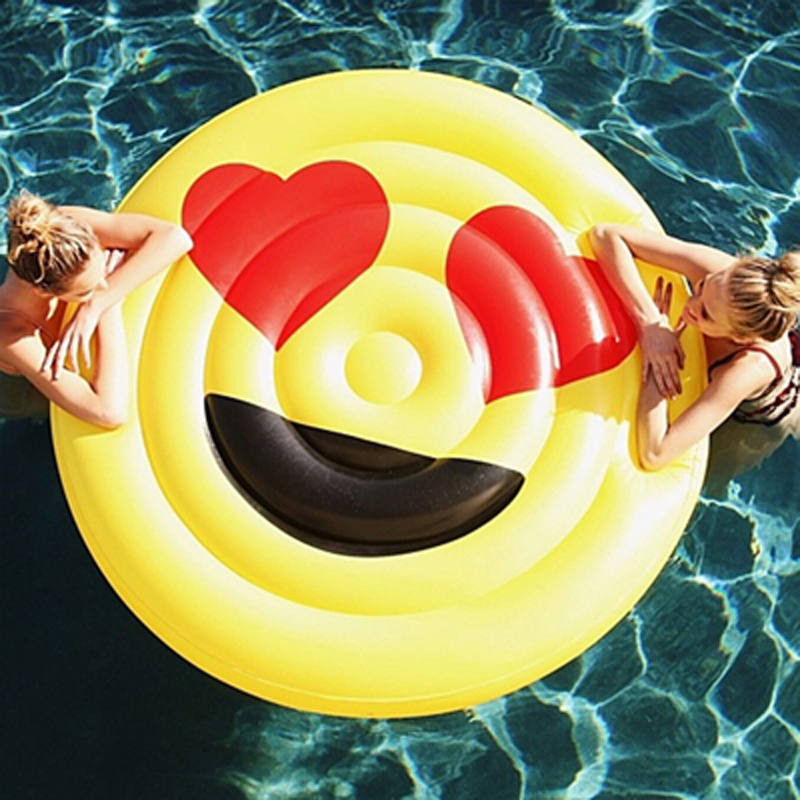 2017 Newest Summer LOL Emoji Pool Float Sunglasses Emoticon Inflatable Swimming Broad Cool For Pool Party Lounger Boia Piscina commercial sea inflatable blue water slide with pool and arch for kids