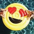 2019 nuevo verano LOL Emoji Piscina flotador gafas de sol Emoticon inflable natación amplio fresco para la Piscina tumbona de fiesta Boia Piscina