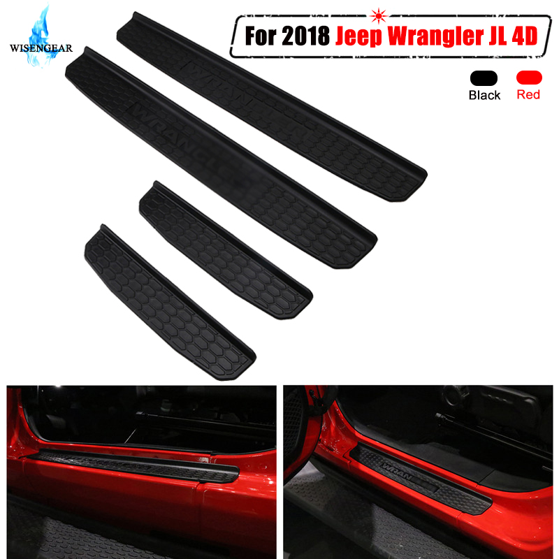 4pcs Car Headlight AC Audio Switch Knob Button Decoration Cover Ring Trim Replacement for 2018-2019 Wrangler JL 2 4 Door Models
