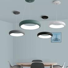 New modern LED pendant lights Round hanging lamp For dining room living room Aluminum pendant lamp lustre suspension luminaire все цены