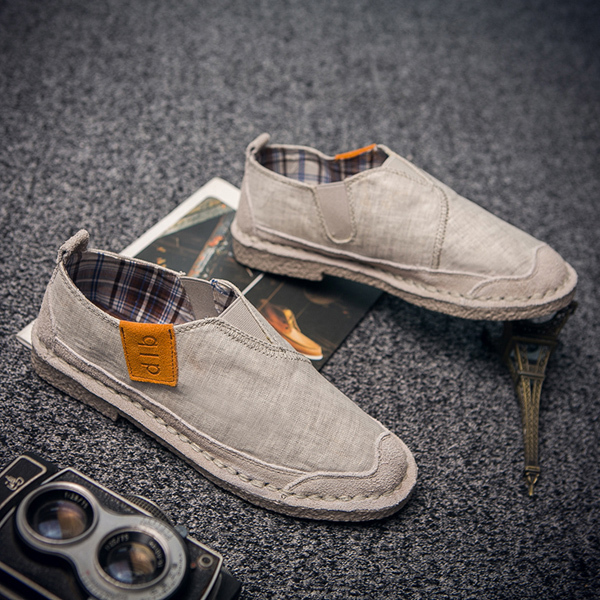 2016 Summer New Cotton And Linen Men Canvas Shoes Fashion Casual Hemp Slip-on Loafers Men's Flats Shoes Low Breathable Men Shoe the new straw linen canvas shoes men and women weave fisherman couple flats shoes