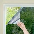 Uma maneira espelho janela filme privacidade diurna estática não-adesivo decorativo controle de calor anti uv matiz da janela para casa e escritório
