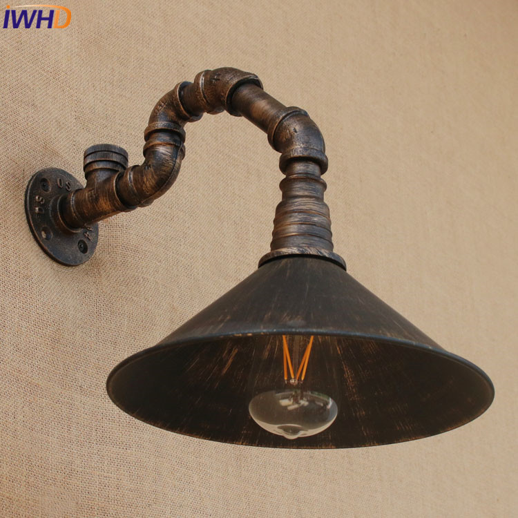 Retro Industrial Wall Light Vintage Loft Wall Lamp Iron With Switch 110V-220V/240V For Dining room Indoor Living room Bedroom t loft retro industrial wall lamp for bar