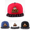 2016 Unisex Snapback Classical Fashion Women Baseball Cap Men Snapback Hat Embroidery The King of Clubs Snapback