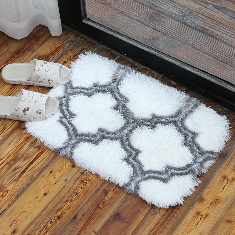 Doormat carpet, living room, bedroom door super soft long hair anti slip mat, absorbent pad, household products