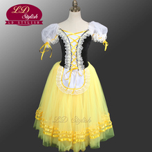 Giselle Degas Ballet Tutu Dresses Peasant Yellow Dress Girls Romantic For Adults LD0003D
