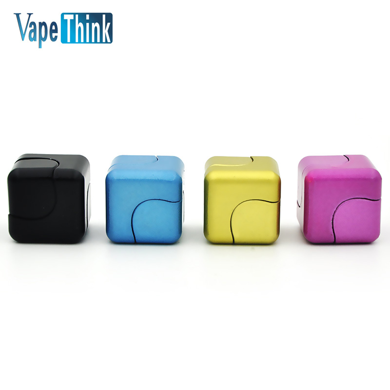 Metal Fidget Cube Spinner Stress Relieving Spinning Cube 2 in 1 Spin Cubo Anti Stress fidget