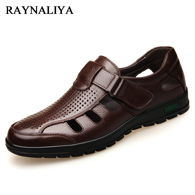 2018 New Summer Men Sandals Breathable Garden Clogs Sandals Men Causual Shoes Flat Fashion Outside Beach Sandals BH-A0104