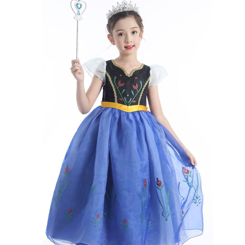 Baby Girls Dresses New Arrival Dresses Girls Princess Anna Elsa Cosplay Hallowmas Costume Kid's Party Dress Kids Girls Clothes