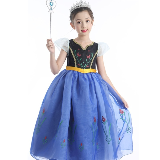 a2d6b852ee US $4.03 29% OFF|Baby Girls Dresses New Arrival Dresses Girls Princess Anna  Elsa Cosplay Hallowmas Costume Kid's Party Dress Kids Girls Clothes-in ...