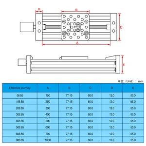 Image 5 - 3d 프린터 Openbuilds Z 축 리드 스크류 T8 Z 축 Diy C 빔 CNC 슬라이딩 테이블 150mm 200mm 250mm 선형 액추에이터 번들 키트
