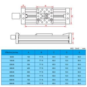 Image 5 - Imprimante 3d openbuild z axis vis sans fin T8 Z axe bricolage c beam CNC Table coulissante 150mm 200mm 250mm actionneur linéaire Kit faisceau