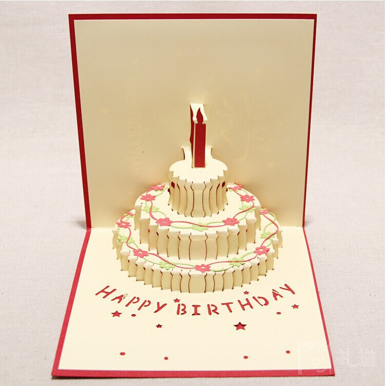 Aliexpresscom Buy 10pcsset diy happy birthday greeting card 3d