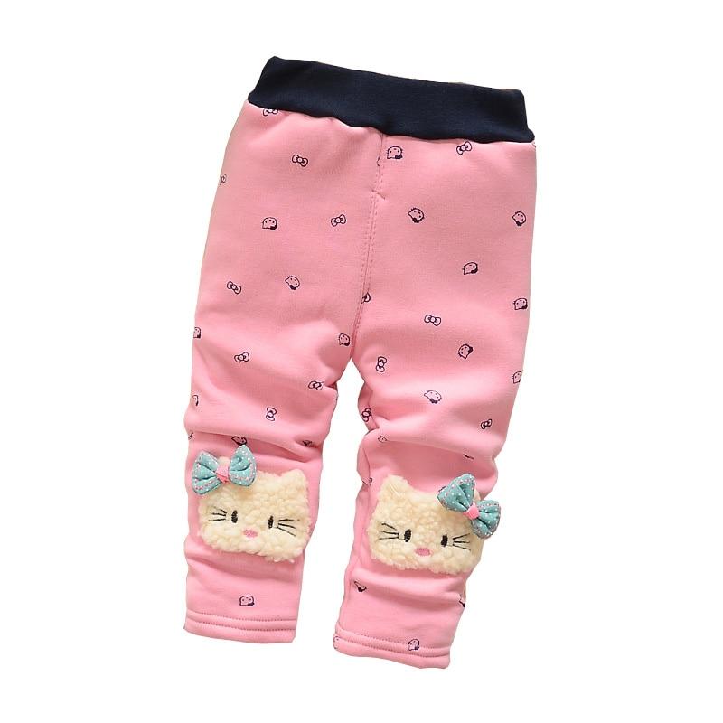 123377159 BibiCola Baby Girls cute cartoon leggings pants infant winter warm ...