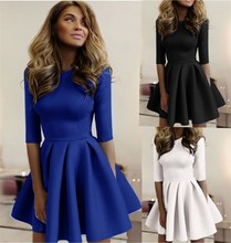 2019Spring and Autumn  Dress New Hot-Selling Tight Pleated Wavy