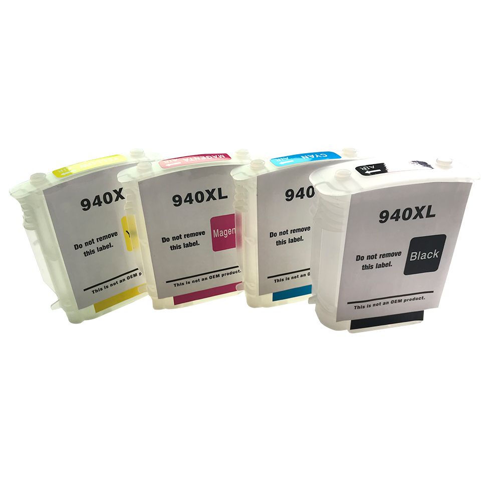 4pcs/set For <font><b>940XL</b></font> refillable ink cartridge for Officejet Pro 8000-A809a/A811a/A809n/8000 Wireless 8500-A909b/A909a/A909n image