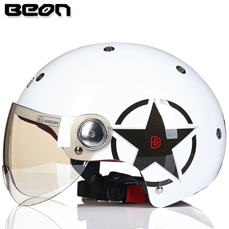 Neue ankunft marke BEON halb helm moto cascos B-103 helm vintage Roller capacete motorradhelm sommer motorrad helm