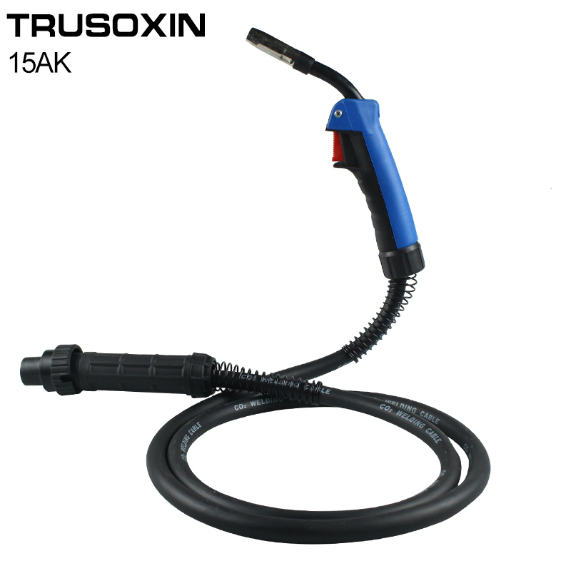 MIG MAG Welding Machine/Equipment Accessories 3M Binzel 15AK Weld Torch/Gun with Europ Connector for MIG MAG Welding Equipment mig mag co2 gas welding gun binzel mb15ak 3m panasonic connection welding torch welder accessories
