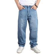 Мужские плюс Размеры мешковатые хип хоп джинсы штаны свободные скейтборд деним Для мужчин джинсы брюки уличная плюс Размеры 30-46