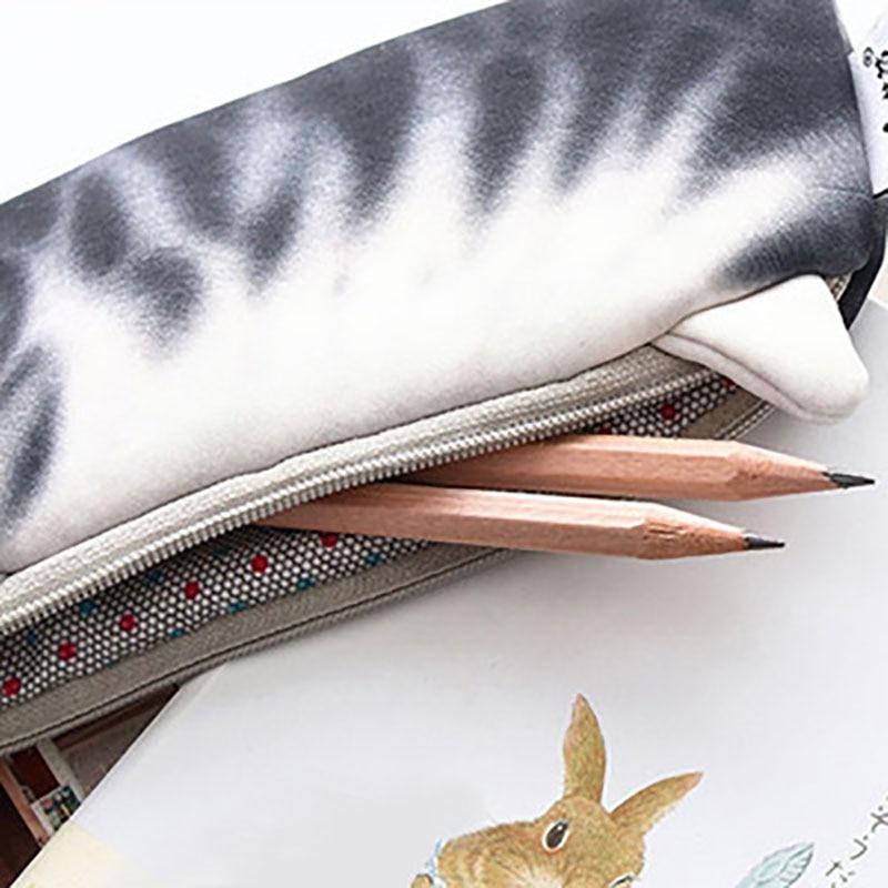1PCS Kawaii Cartoon Cat Pencil Case Soft cloth korean stationery for school office school supplies pencil bag in Pencil Bags from Office School Supplies