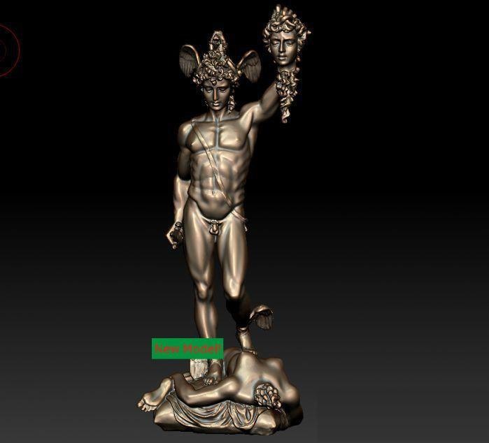 New Model 3D Model For Cnc Or 3D Printers In STL File Format Perseus Of Macedon