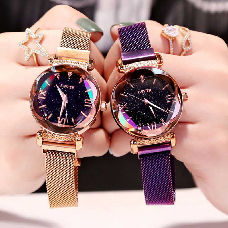 Elegant Women Watch Fashion Luxury Magnet Clasp Wrist Watch Women's Watches Quartz Wristwatches