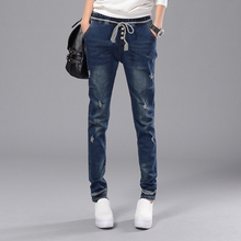 Мешковатые джинсы с отверстиями женщина vaqueros mujer жан femme широкую ногу джинсы