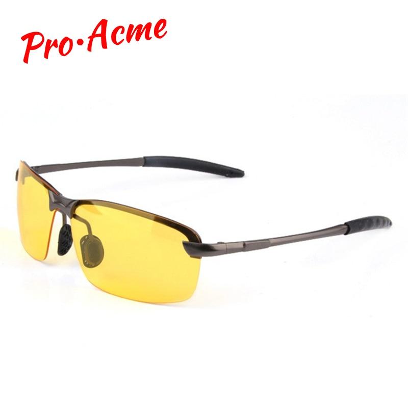 f7f5613fb0 Pro Acme clásico de alta definición HD noche visión gafas polarizadas gafas  lente gafas para conducir de noche UV400 CC0008