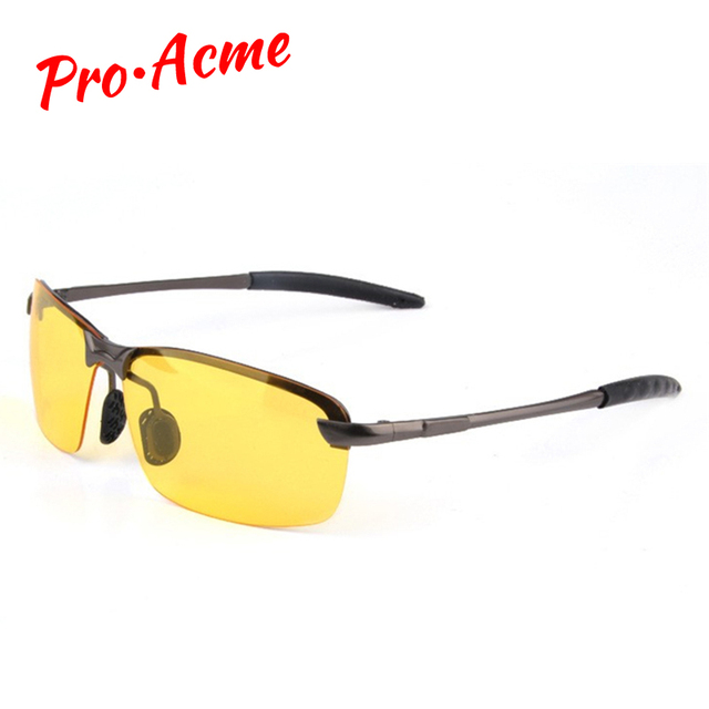 dc33c21689 Pro Acme classique HD haute définition Vision nocturne lunettes polarisées  lunettes verres jaunes pour la conduite
