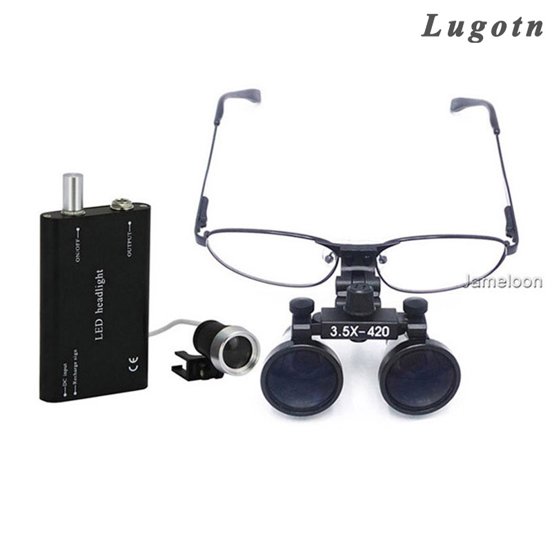 3 5 magnification replaceable shortsighted glasses metal frame dentist dental doctor surgical loupe medical operation magnifier