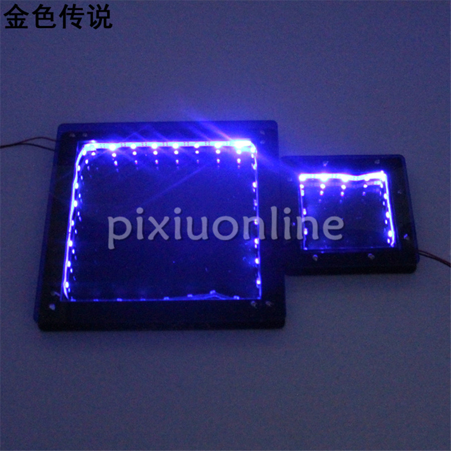 1set J723 Small and Large Size Square Blue Night-light Bedroom Desk Light Free Russia Shipping