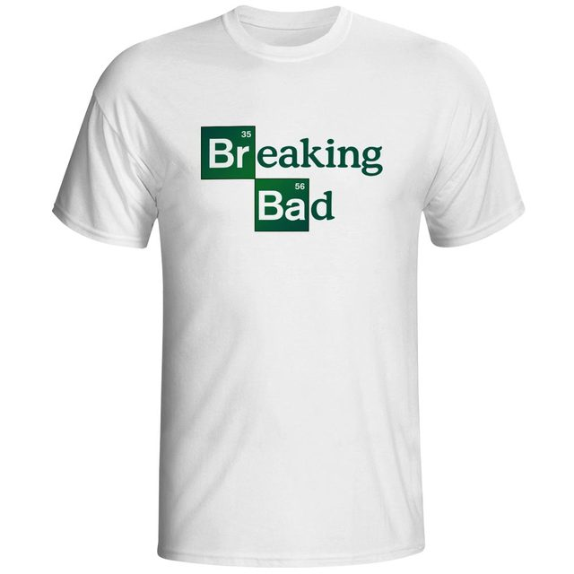 f2322c9f665d Breaking Bad element Funny Design T Shirt Printed T-shirts Cool Fashion  Style Boys Male Dropshipping Clothes Tops Tees
