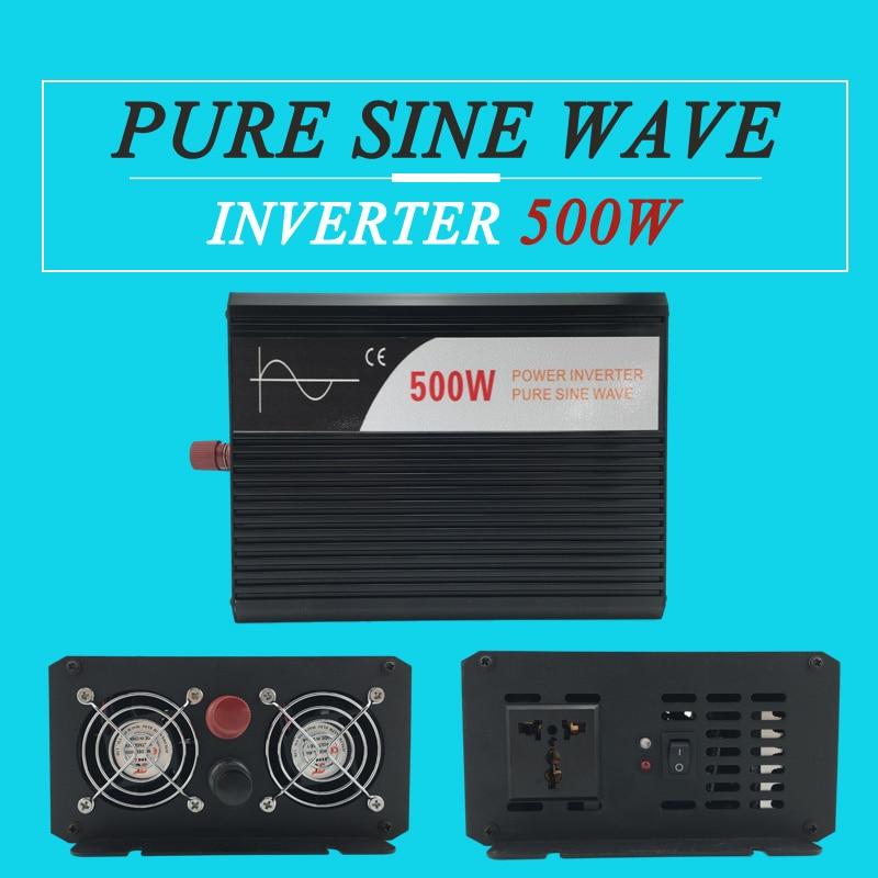 hot sale power inverter 500W 12v 24v 48v dc to ac 110v 120v 220v pure sine wave off grid for home use